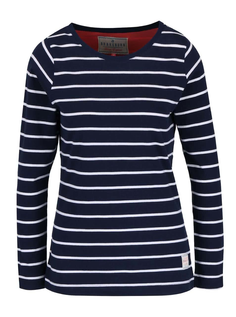 Tmavě modré pruhované tričko Brakeburn Stripe ... 3d0c7b7236