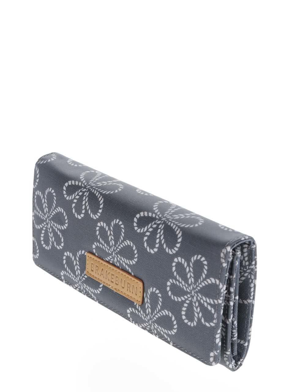 010a810fd4 Tmavě modrá peněženka smotivem květin Brakeburn Ropes ...