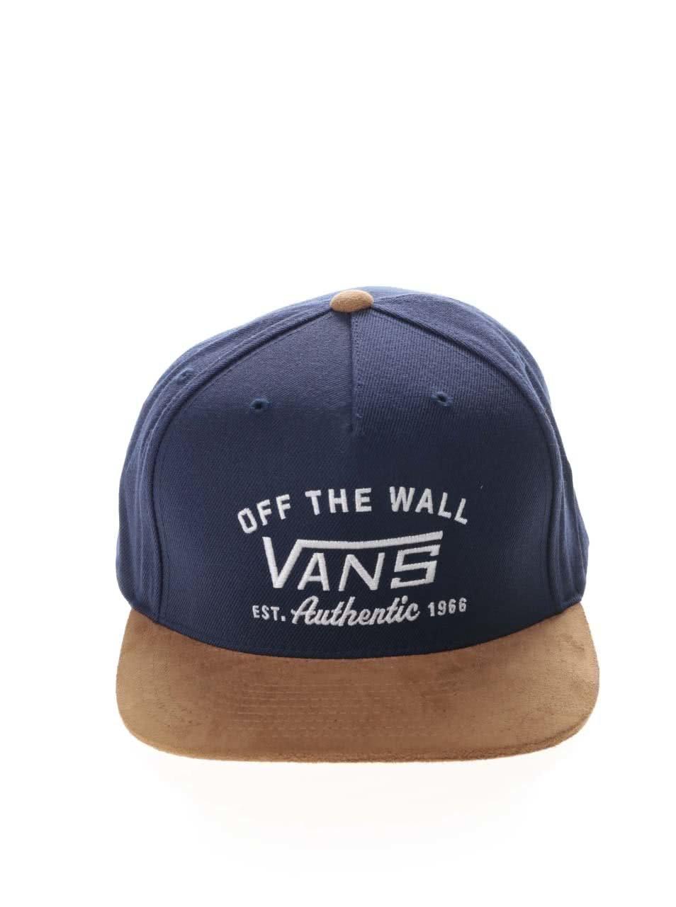 Hnedo-modrá pánska šiltovka Vans Authentic ... 33582b33ff6