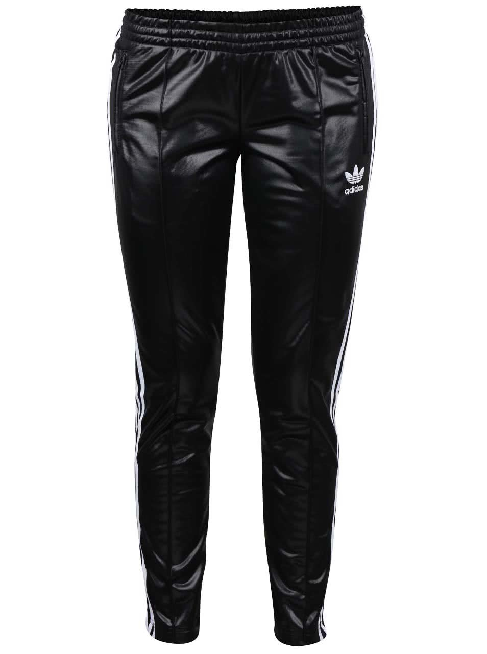 0d3ef3e9305 Černé dámské lesklé tepláky adidas Originals ...