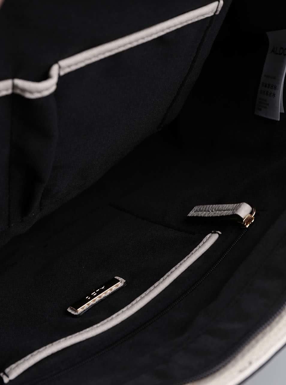Hnědo-krémová kabelka s přívěškem ALDO Bogard ... d2cf66bd72