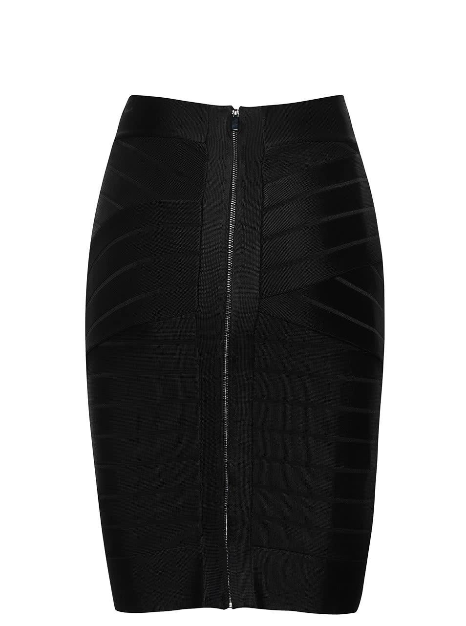 Černá elastická sukně se zipem French Connection Spotlight ... ce73cda4bd