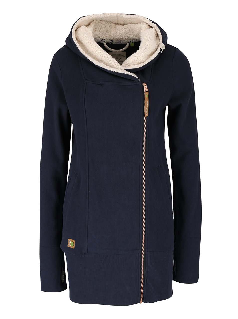 Tmavomodrá dámska dlhá mikina na zips Ragwear Amelia Organic ... 8fdb04da62f