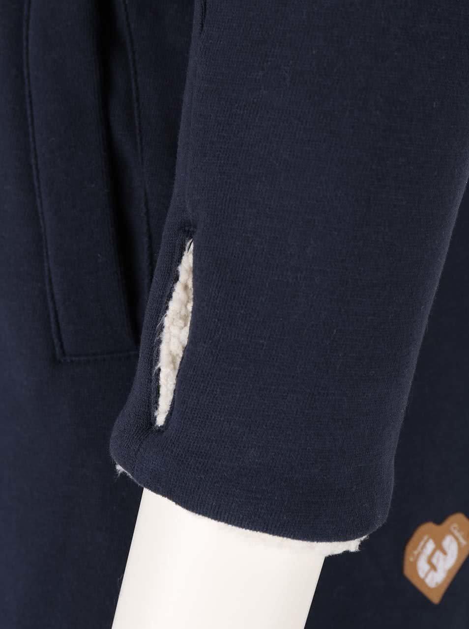 Tmavě modrá dámská dlouhá mikina na zip Ragwear Amelia Organic ... 171ada4abe