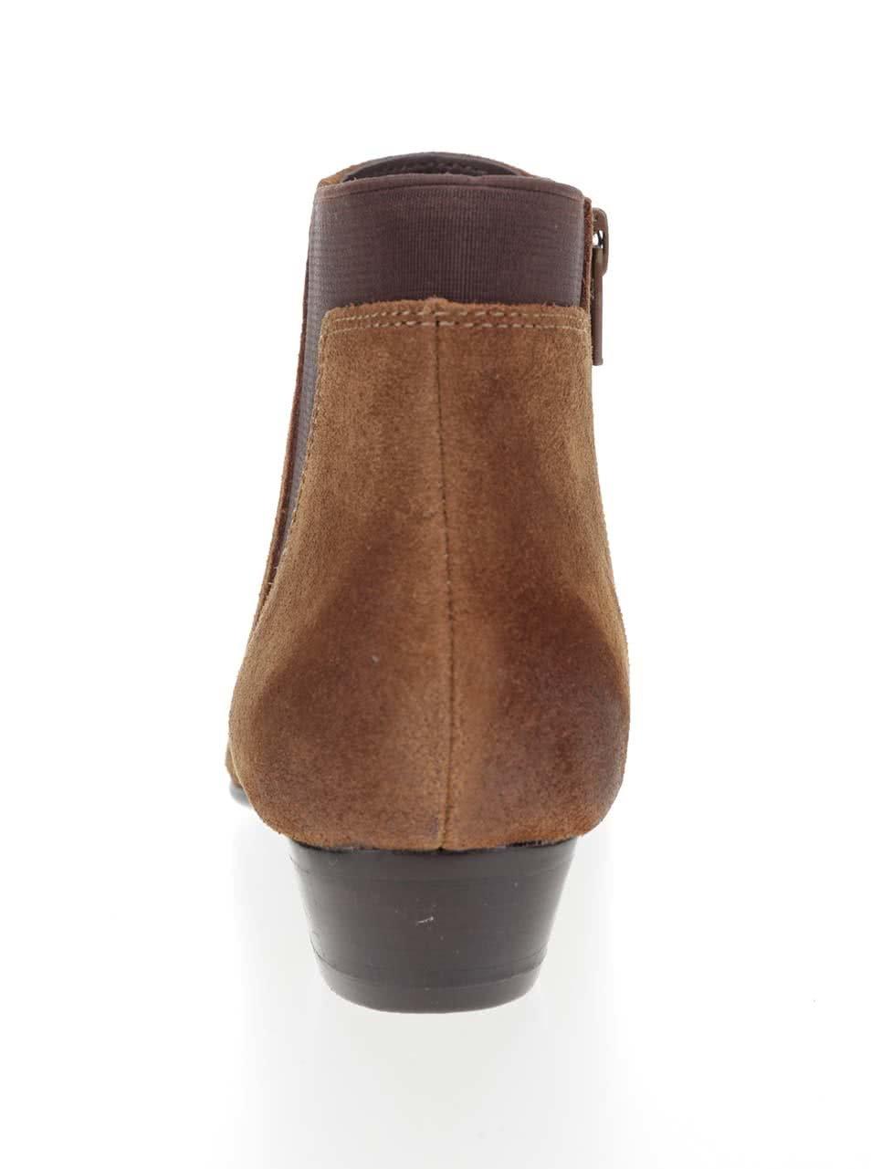 a6136b743d Hnedé dámske semišové členkové topánky ALDO Siman ...