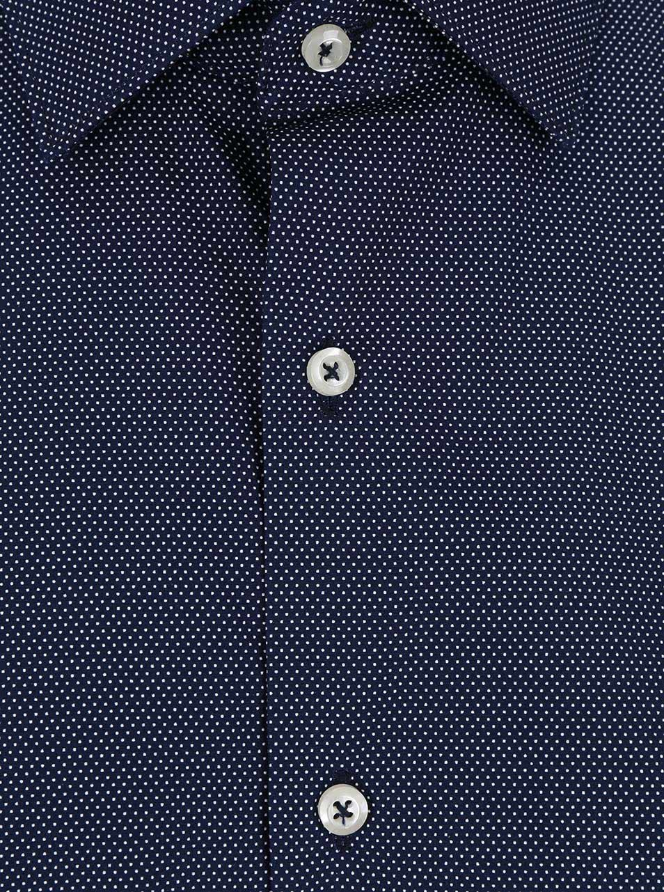 34ecb7a9f6c3 Tmavomodrá pánska košeľa s jemným vzorom Seven Seas ...