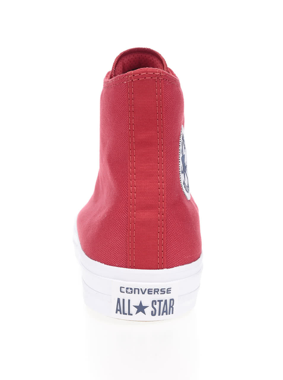 b53d942df24 Červené unisex kotníkové tenisky s bílým logem Converse Chuck Taylor All  Star ...
