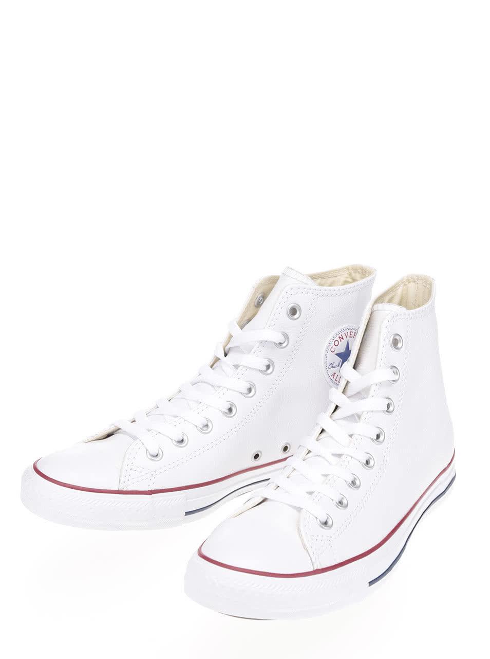 Bílé unisex kožené kotníkové tenisky Converse Chuck Taylor All Star ... a21a70da06