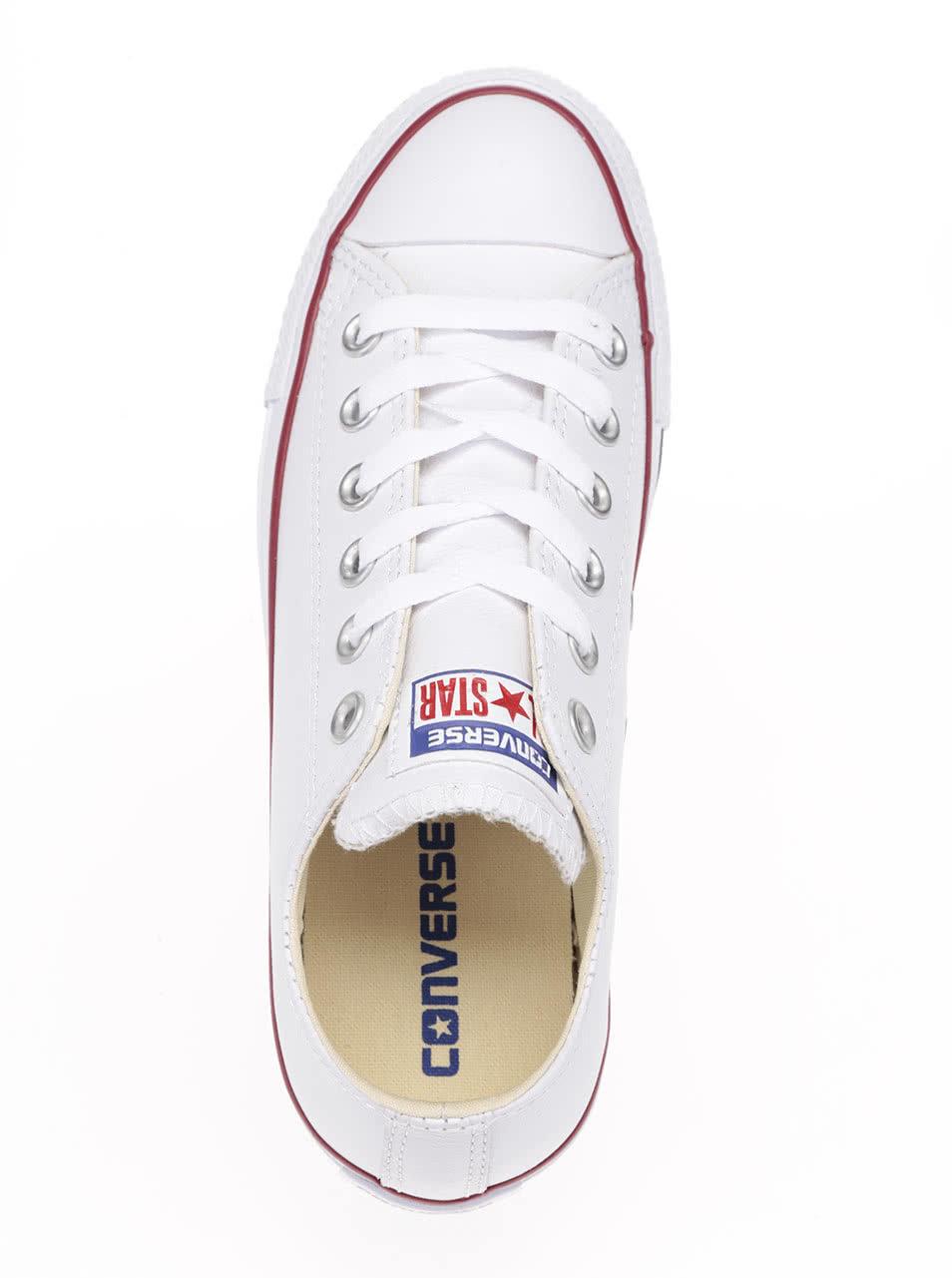 e5928d3473bfb Biele unisex kožené tenisky Converse Chuck Taylor All Star   ZOOT.sk