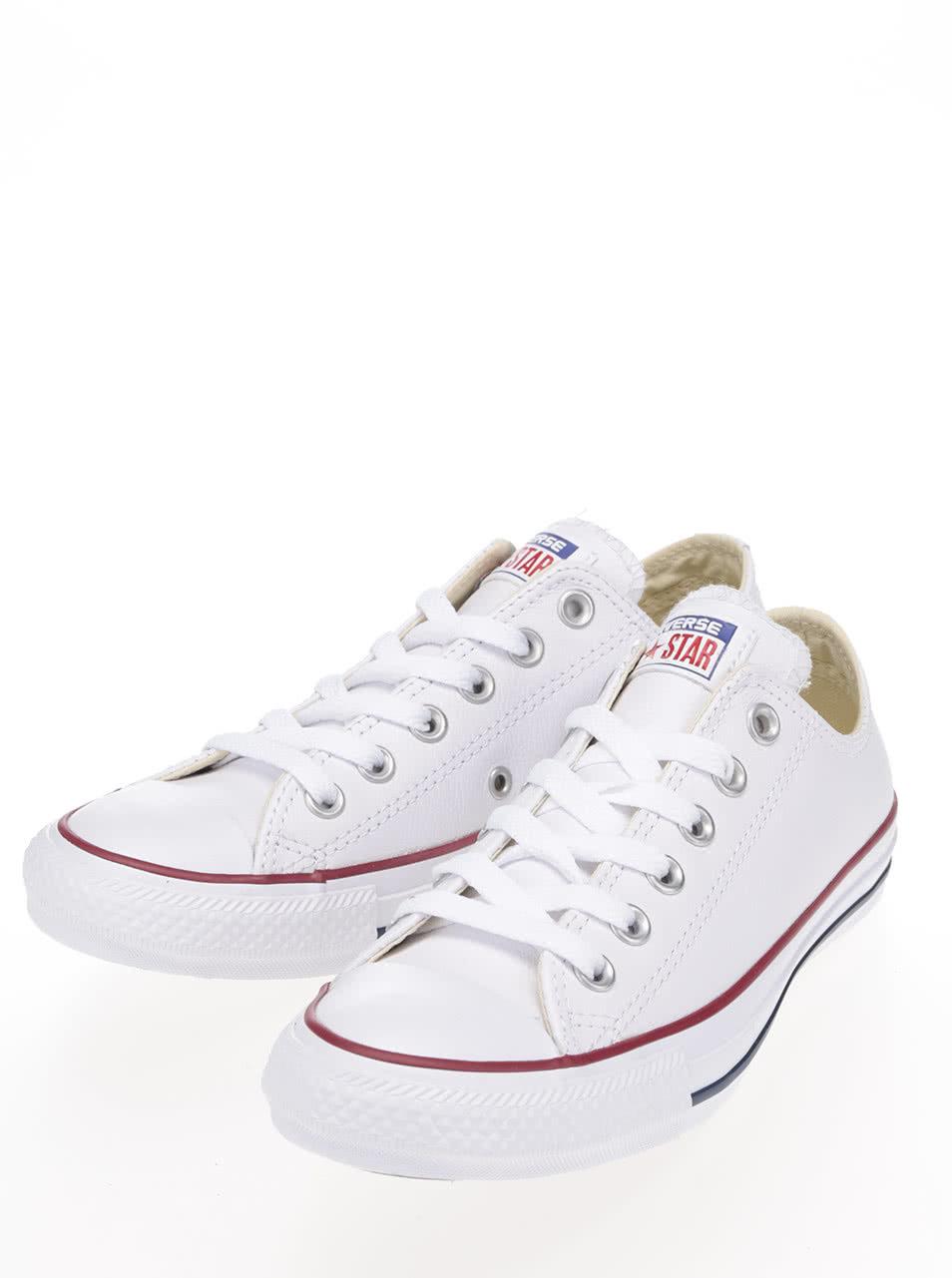 ed9c29bd18 Biele unisex kožené tenisky Converse Chuck Taylor All Star ...
