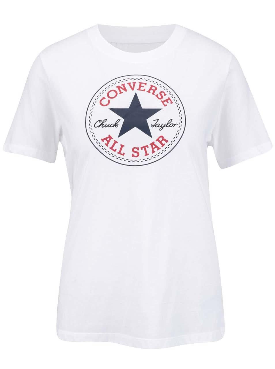Bílé dámské tričko s logem Converse Core ... 6543cc4072