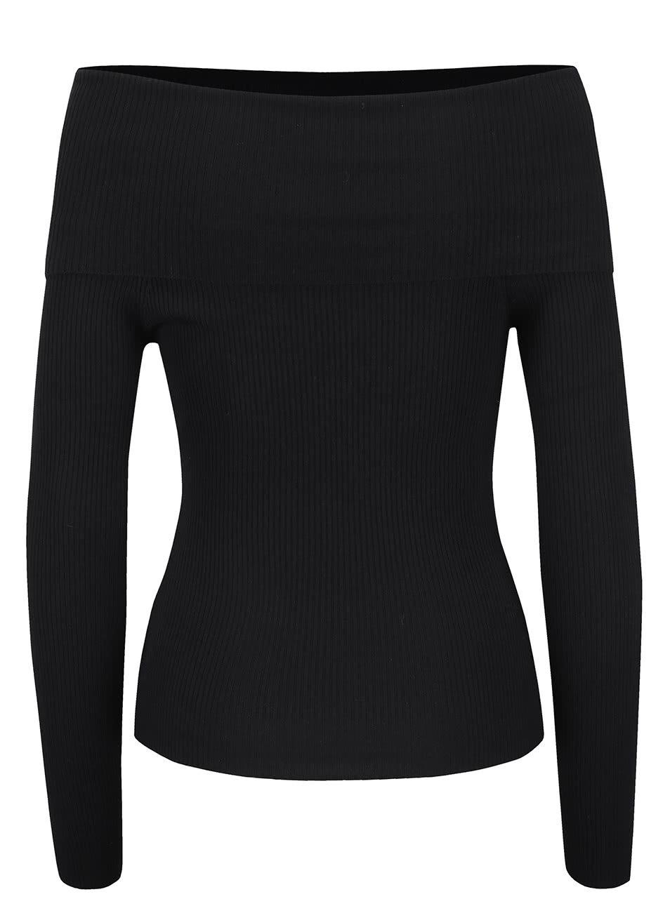 Černý svetr s odhalenými rameny Miss Selfridge ... 14e66abeda