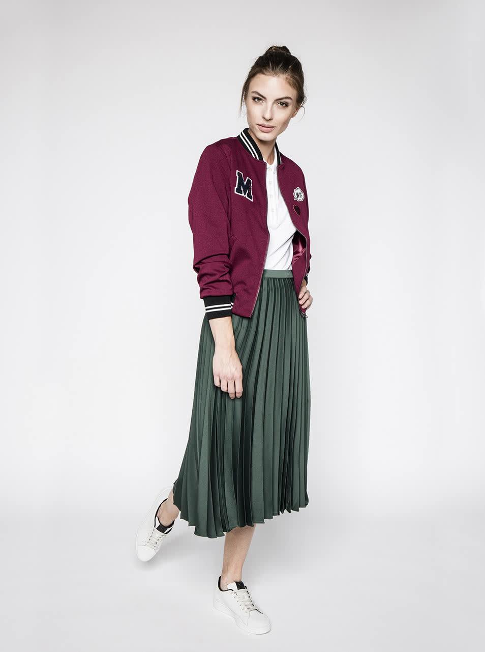 7cec2e4461f9 Tmavě zelená plisovaná midi sukně Miss Selfridge ...