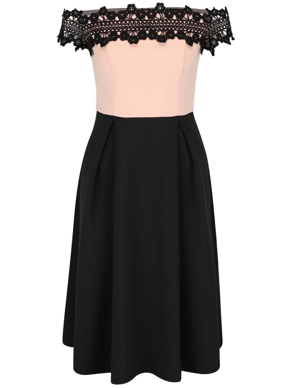 fa8ac249b8c Růžovo-černé šaty s krajkou Dorothy Perkins ...