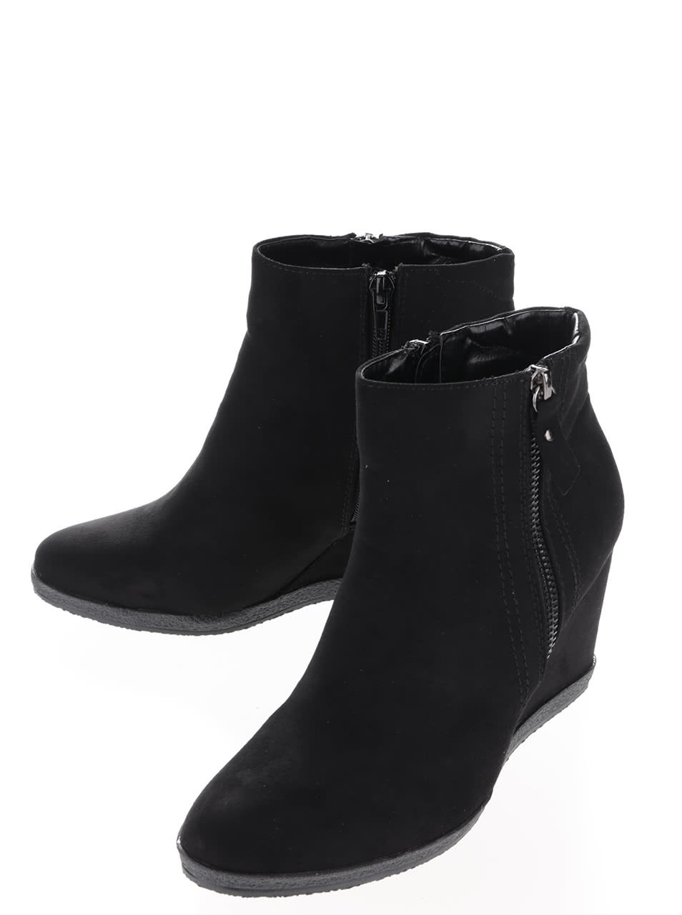 08ed9386d028 Čierne členkové topánky na platforme Dorothy Perkins ...