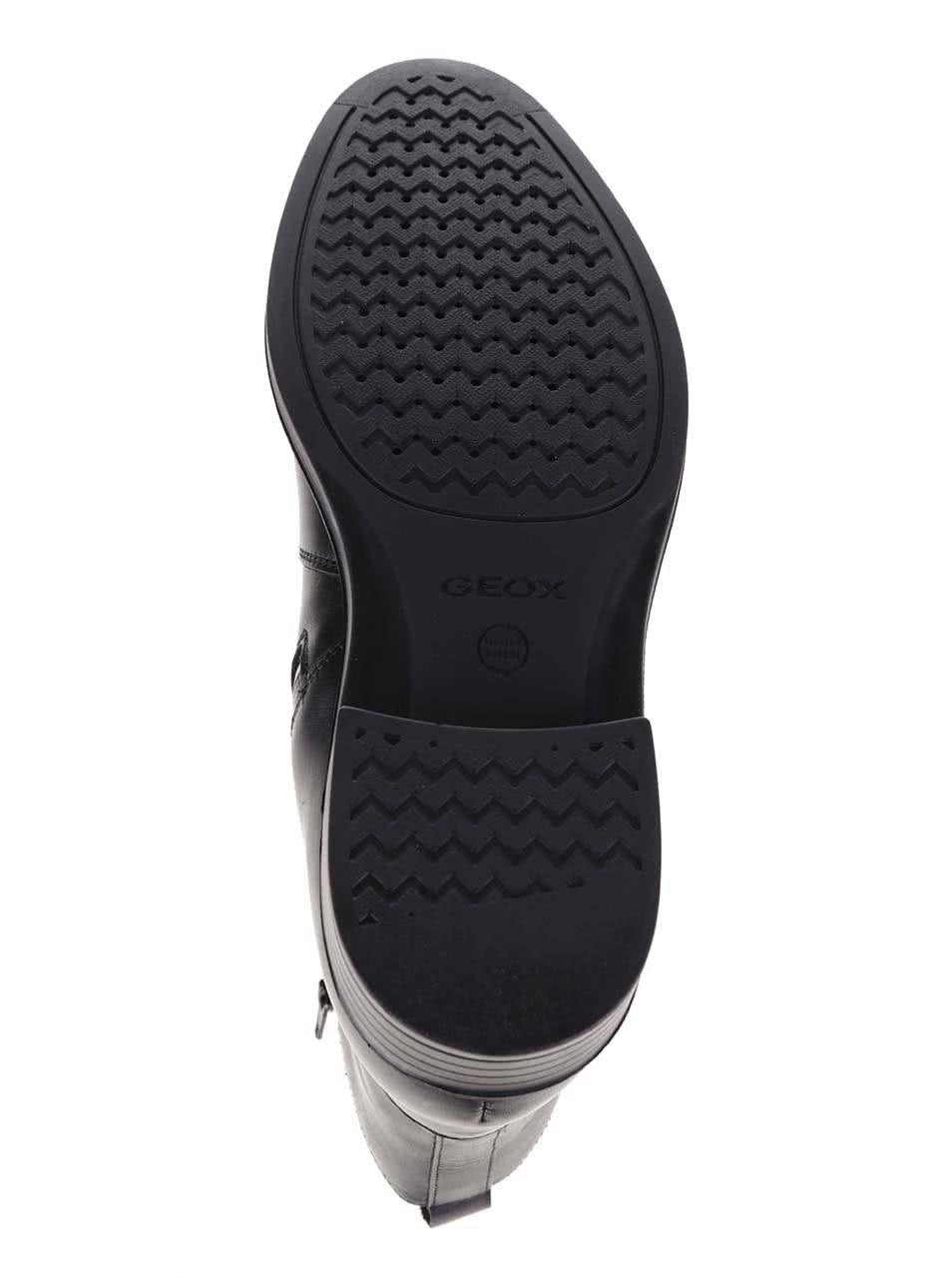 Černé pánské kožené kotníkové boty Geox Loris ... 9491fcf222