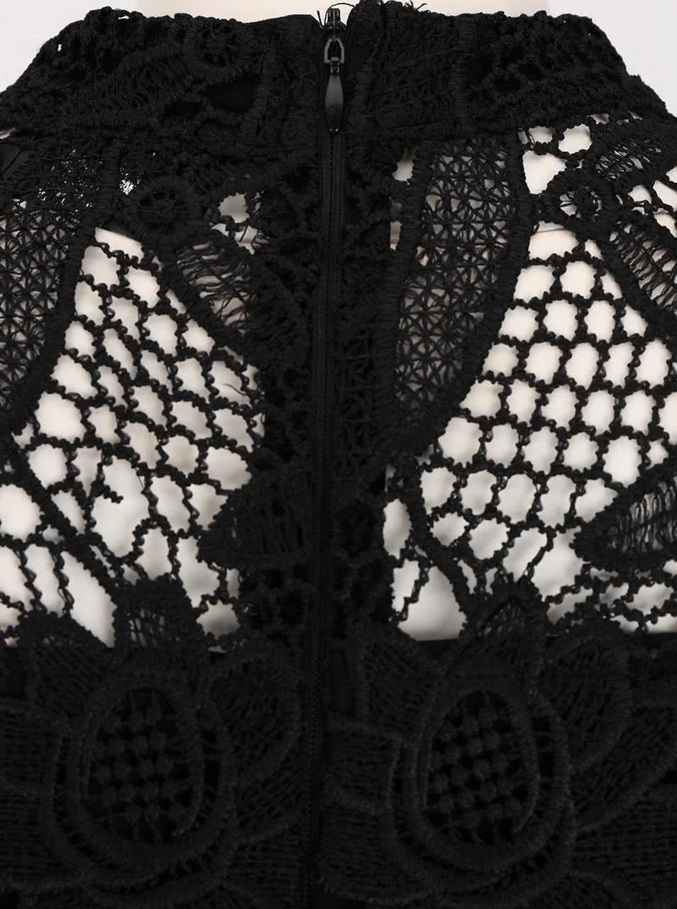 Čierne šaty zdobené čipkou AX Paris ... 30a1e10b3dc