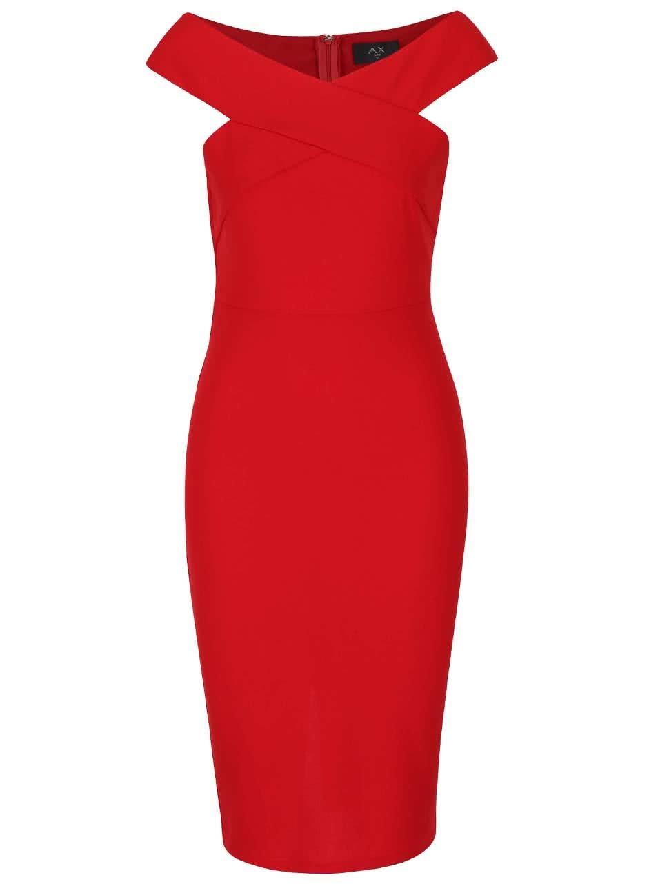 3c8cd9e2ee29 Červené priliehavé šaty AX Paris ...