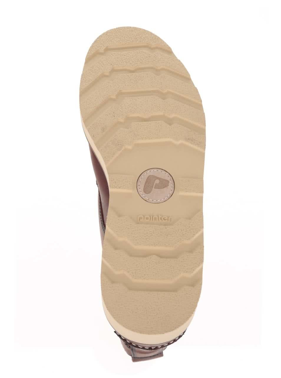 dfad33f0c1b82 Tmavohnedé pánske kožené členkové topánky Pointer Kane | ZOOT.sk