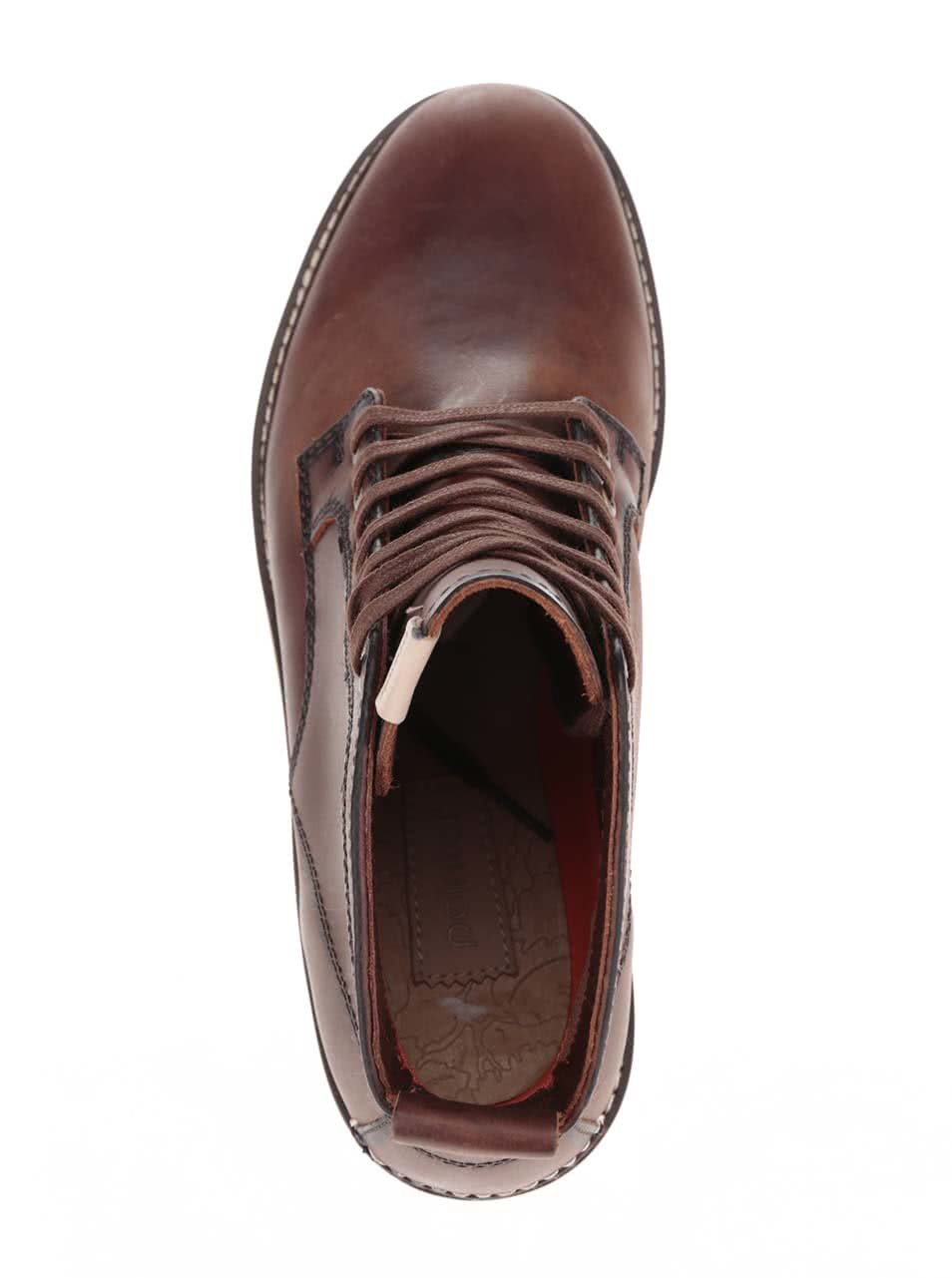 8a12fa714c9f4 Tmavohnedé pánske kožené členkové topánky Pointer Kane   ZOOT.sk