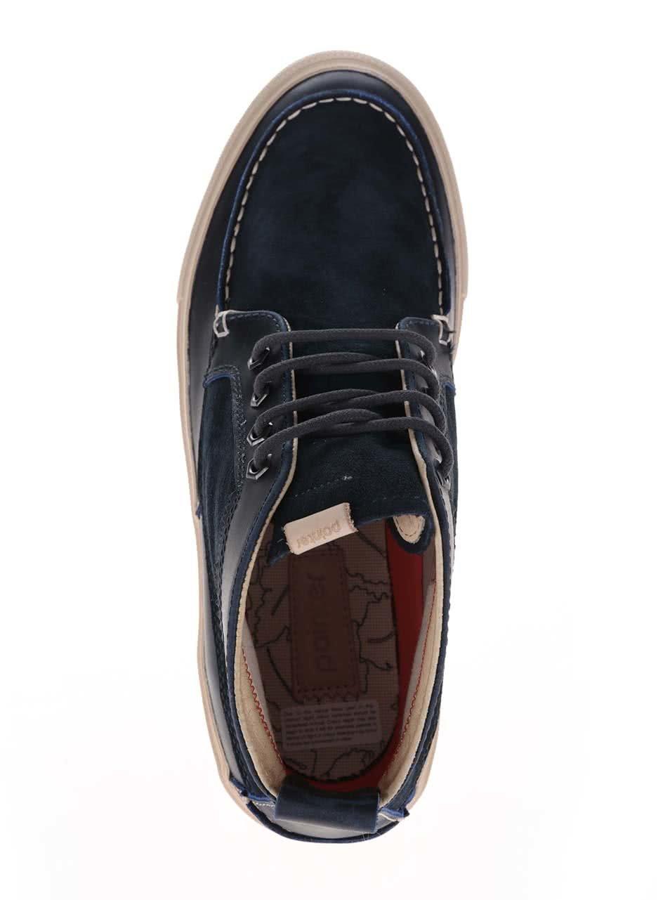 Tmavě modré pánské semišové kotníkové boty Pointer Roger ... e22dd5a8217