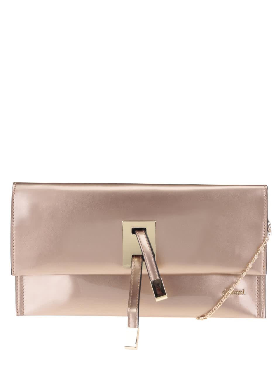 Lesklá listová kabelka v bronzovej farbe Gionni Luciana ... ade924b4538