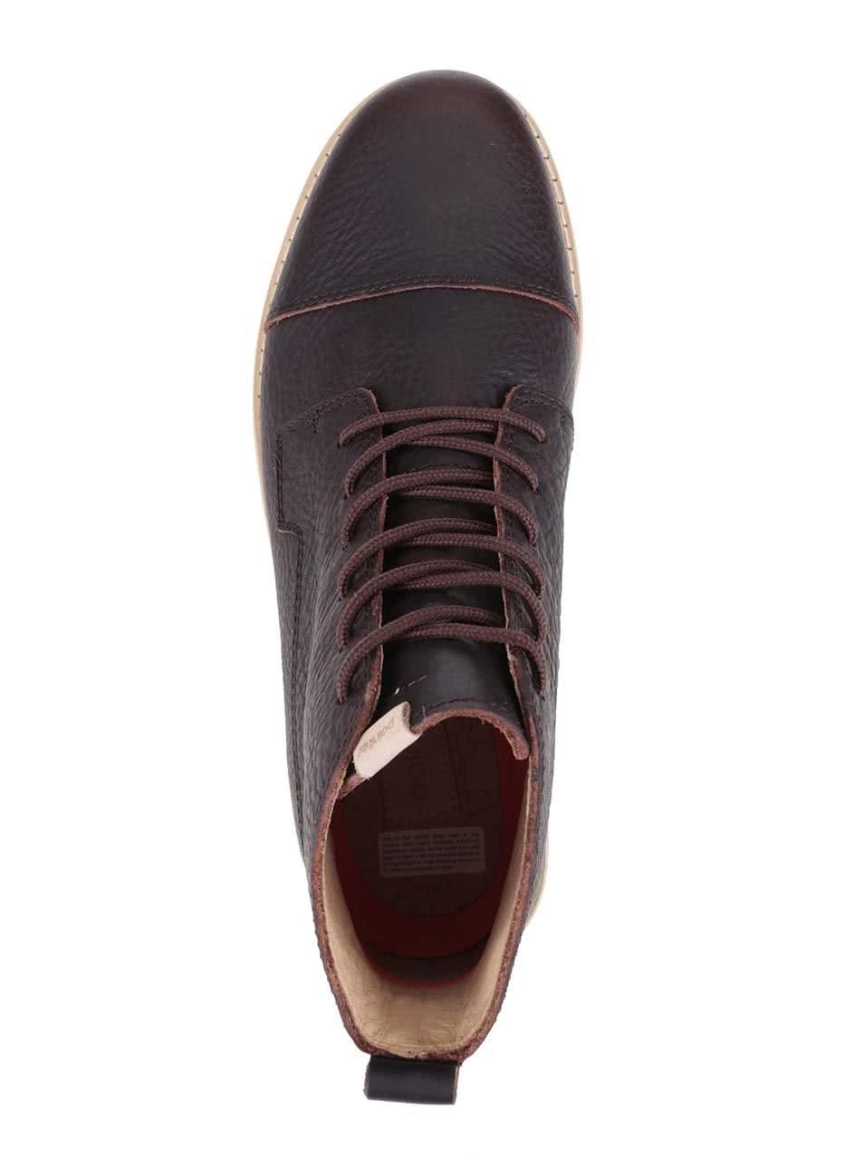 Tmavě hnědé pánské kožené kotníkové boty Pointer Willard ... 87b5cecc57