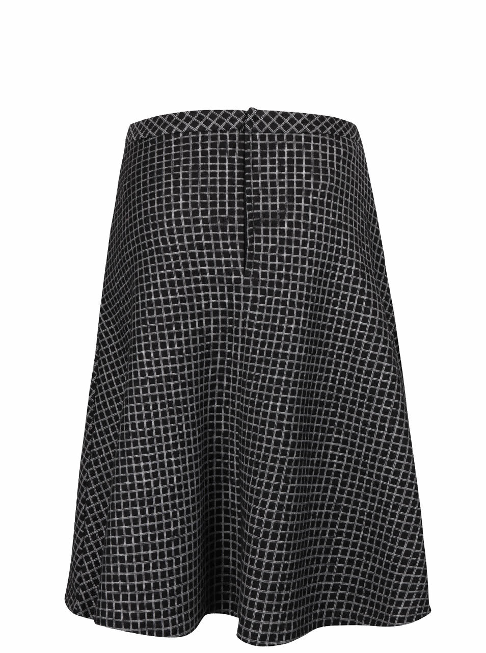 ed3b10941f86 Černá áčková kostkovaná sukně Fever London Lori ...