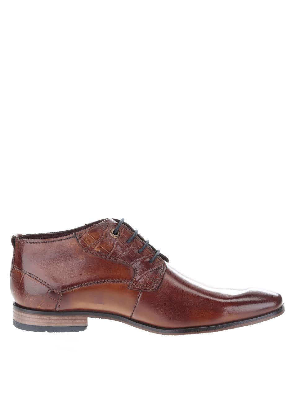 79e10ab99b Hnědé pánské kožené kotníkové boty bugatti Remigio ...