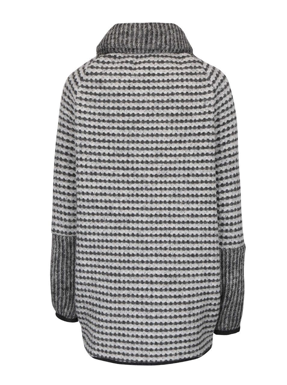 Šedý dámský kabát bugatti ... 3580c1b4ec