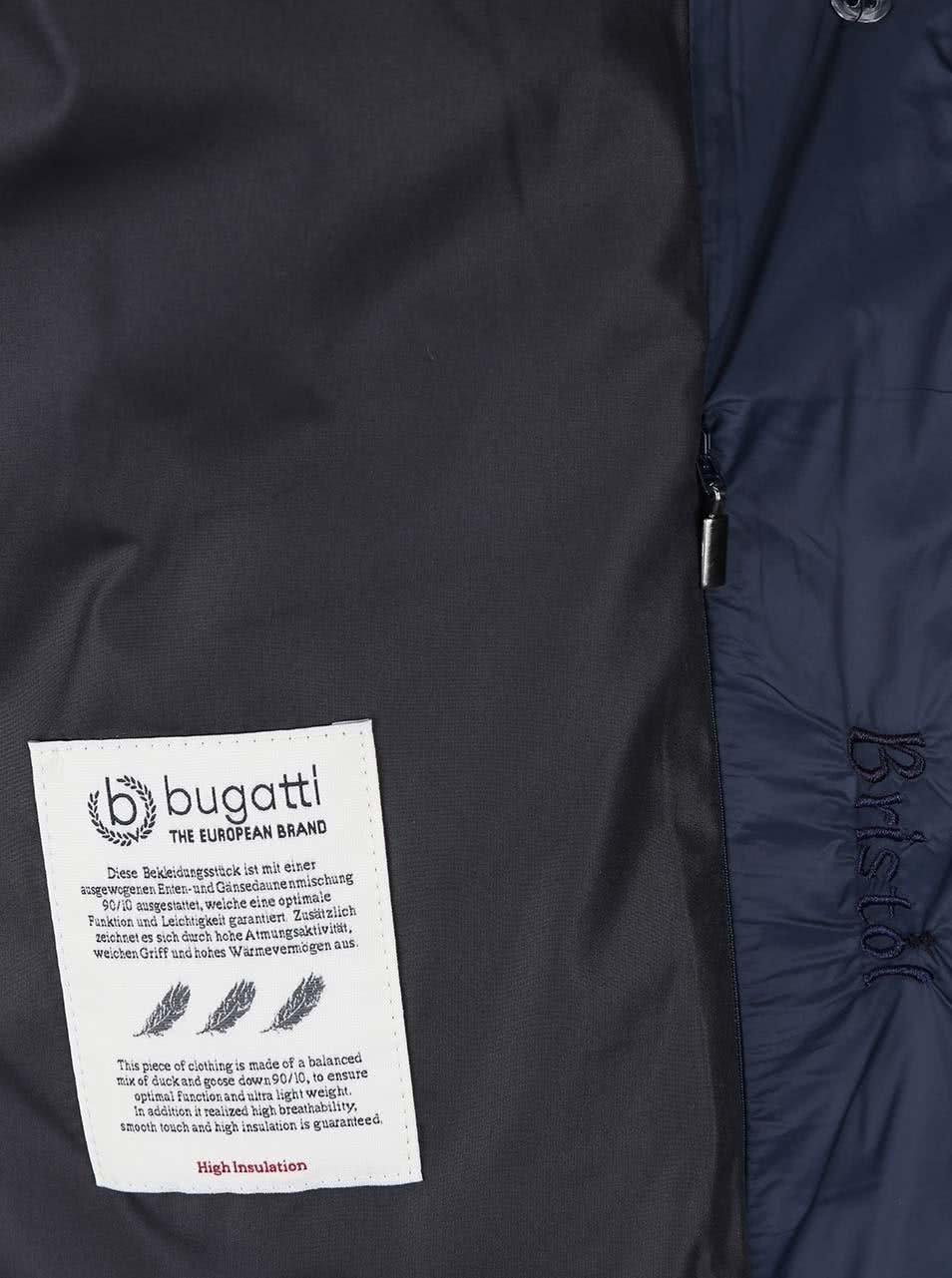 ec16beb315d Tmavě modrý dámský prošívaný kabát Bugatti ...