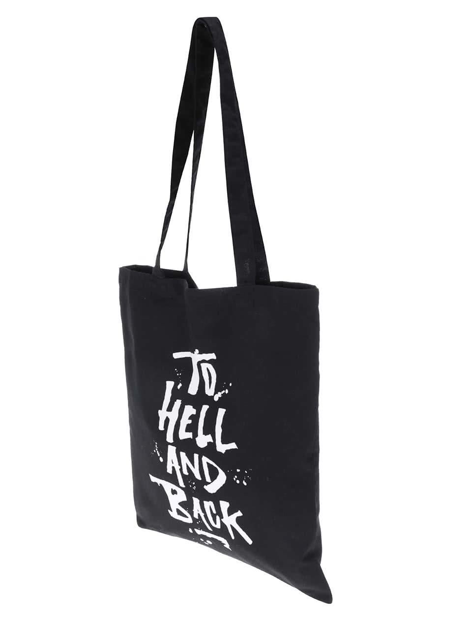 6601d2072 Černá plátěná taška s potiskem ZOOT Originál To Hell | ZOOT.cz