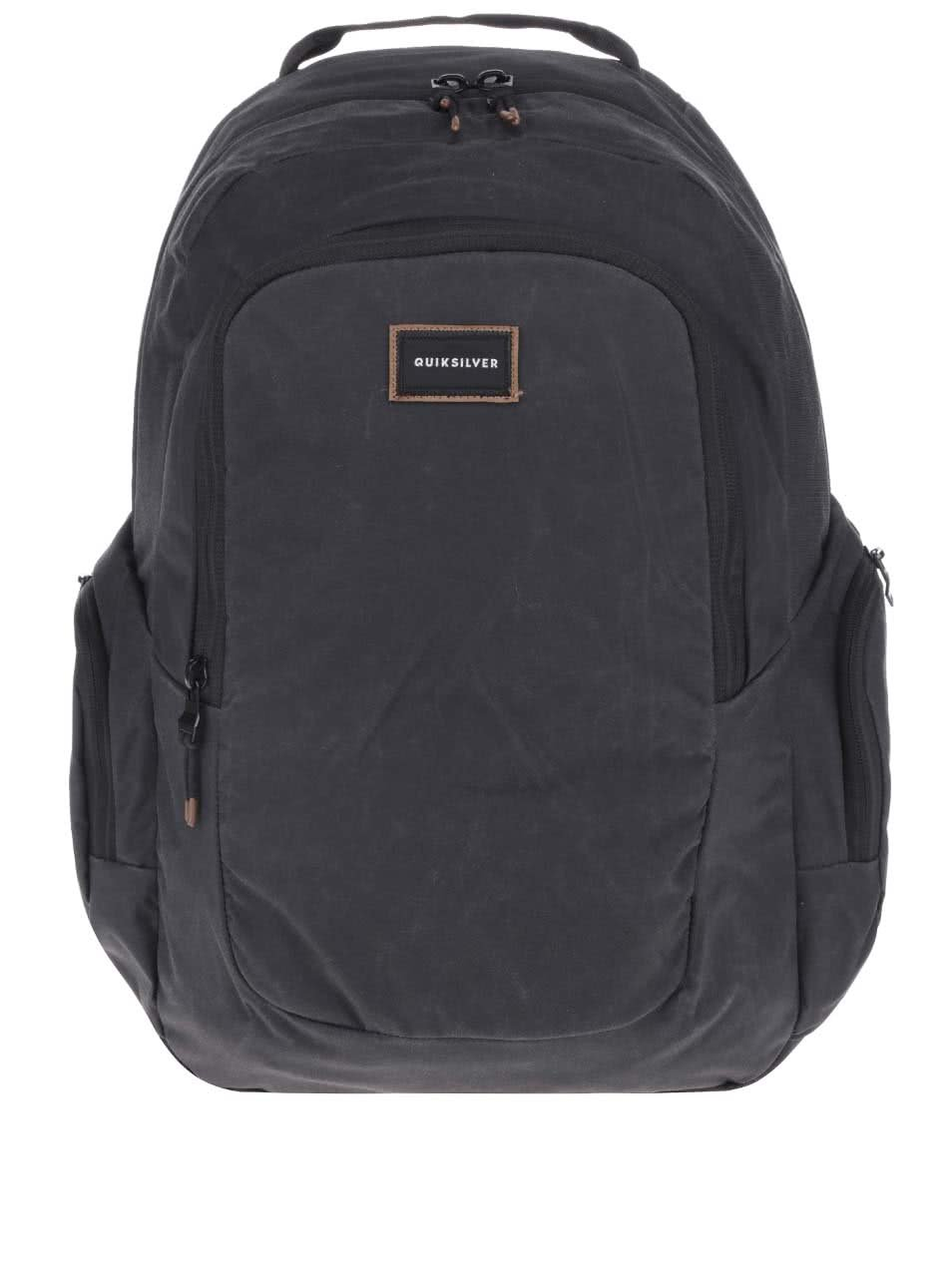 Černý pánský batoh s bočními kapsami Quiksilver Schoolie ... c43164f251