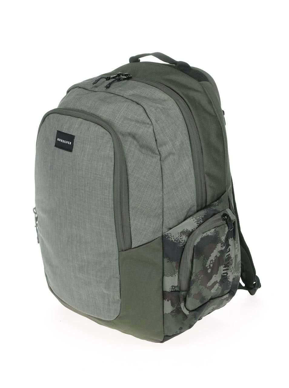 Khaki pánský batoh s bočními kapsami Quiksilver Schoolie ... 4f50ea9714
