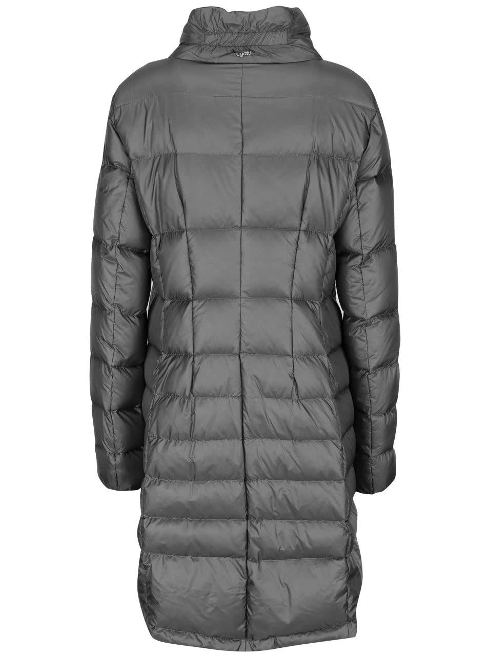 Sivý dámsky prešívaný kabát Bugatti ... c8820f6b48