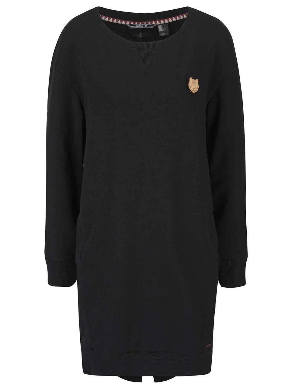 Černé dámské mikinové šaty s dlouhým rukávem O Neill Sweat ... 25c69f592f
