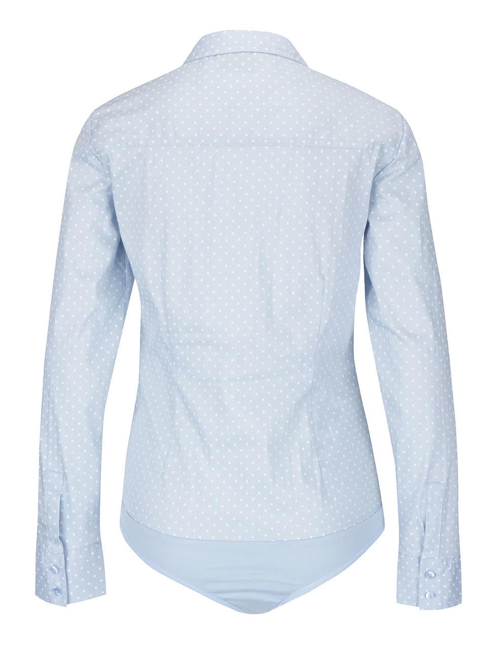 25fe8c961207 Svetlomodrá vzorovaná body košeľa VERO MODA Lady ...
