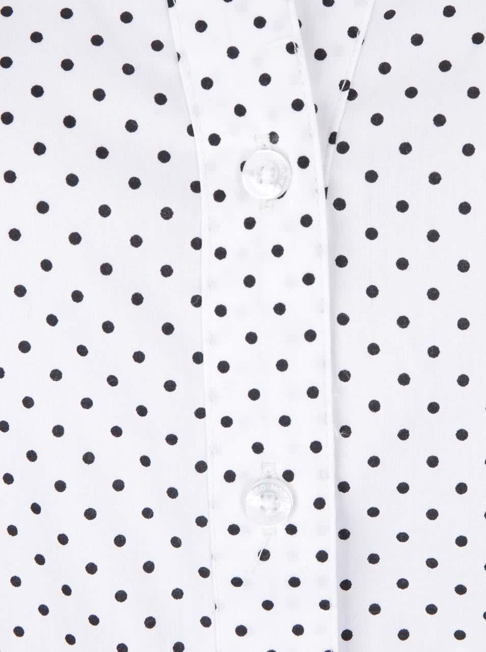 ccb176936b5e Biela vzorovaná body košeľa VERO MODA Lady ...