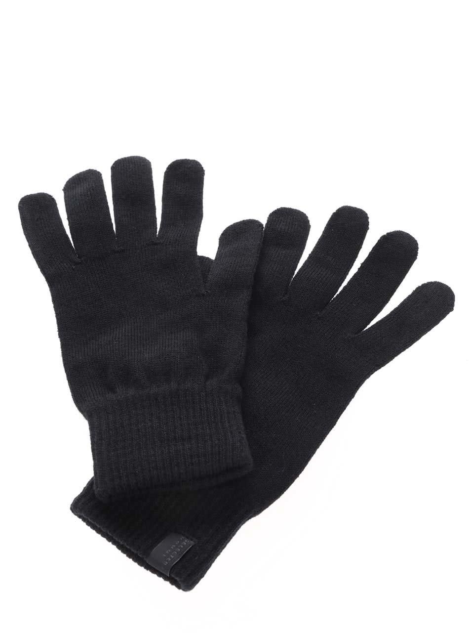 fadf8f2140c Černé rukavice Selected Homme Hleth ...
