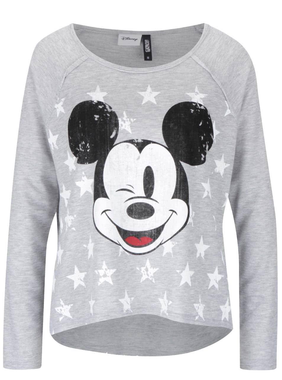 8b65a786c0fa Sivé dámske tričko s potlačou Mickey Mouse Haily s Micka ...