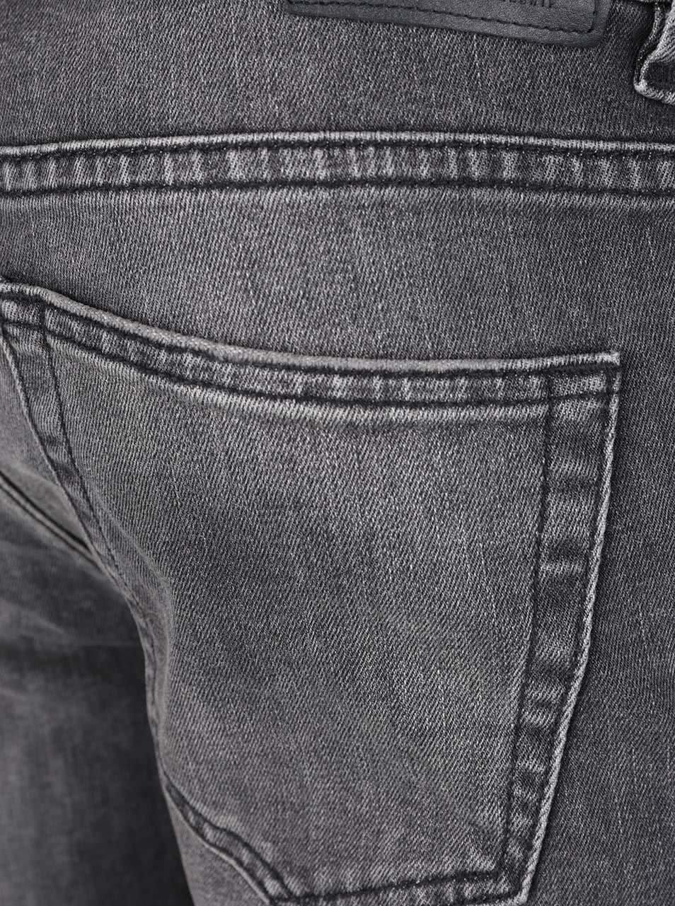 Tmavě šedé slim džíny s vyšisovaným efektem ONLY   SONS Loom ... 7db85a771a