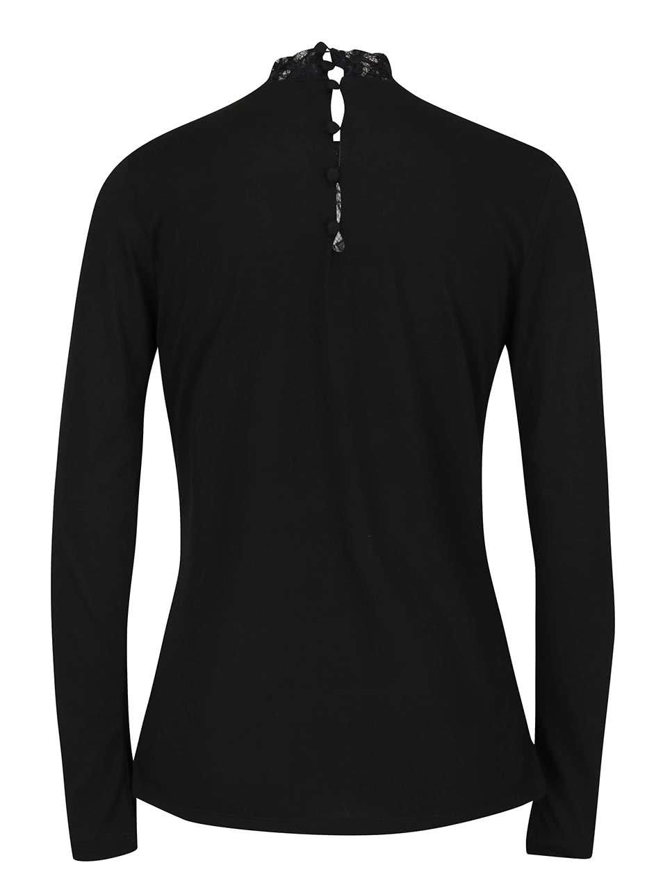 Čierne dámske tričko s čipkou PEP Fabia ... 038812f996f