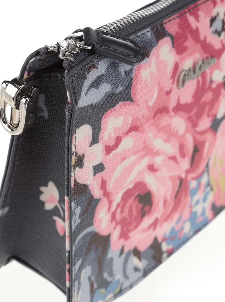 0e297d0e3d Tmavě šedá květovaná crossbody kabelka Cath Kidston ...
