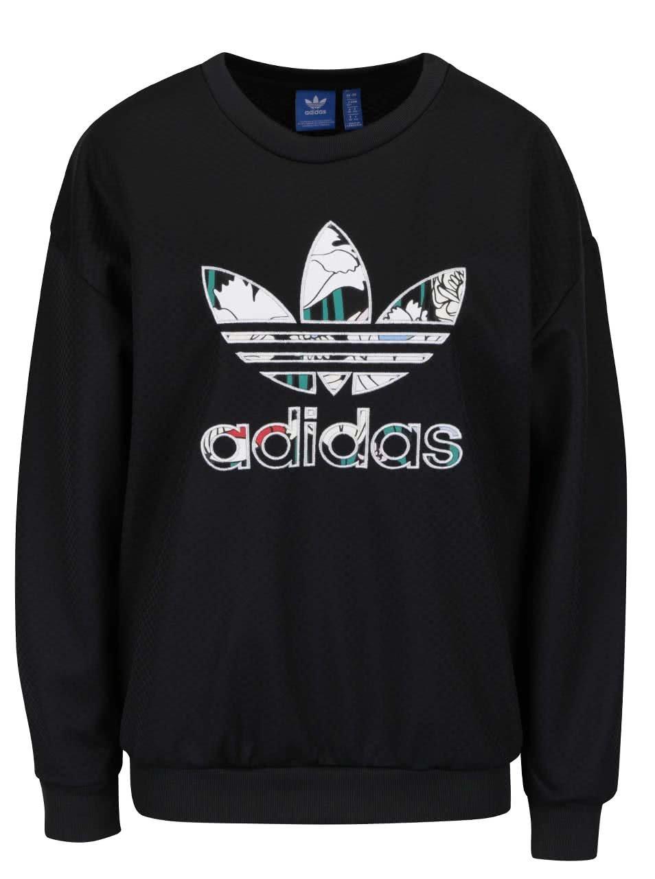 Čierna dámska vzorovaná mikina s logom adidas Originals ... cb4a65af872