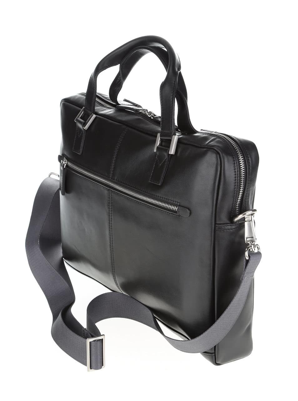 6a1eec9d2ad Černá pánská kožená taška bugatti Manhattan ...