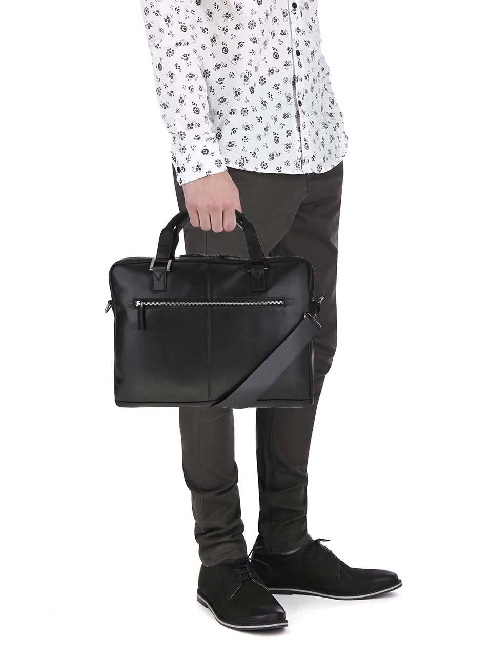 Čierna pánska kožená taška bugatti Manhattan ... a00eae03014