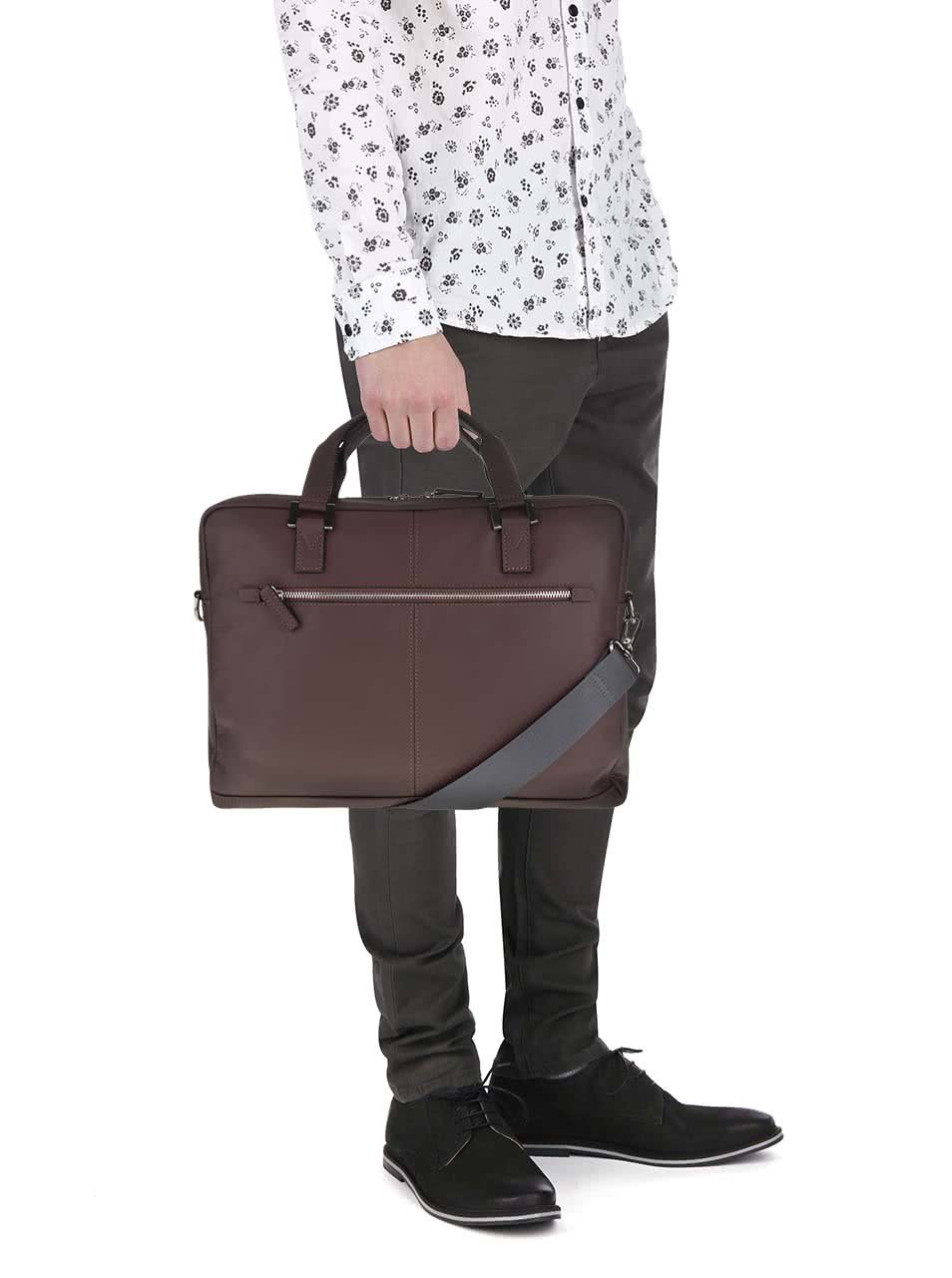 144c7a9cb Tmavě hnědá pánská kožená taška bugatti Manhattan | ZOOT.cz