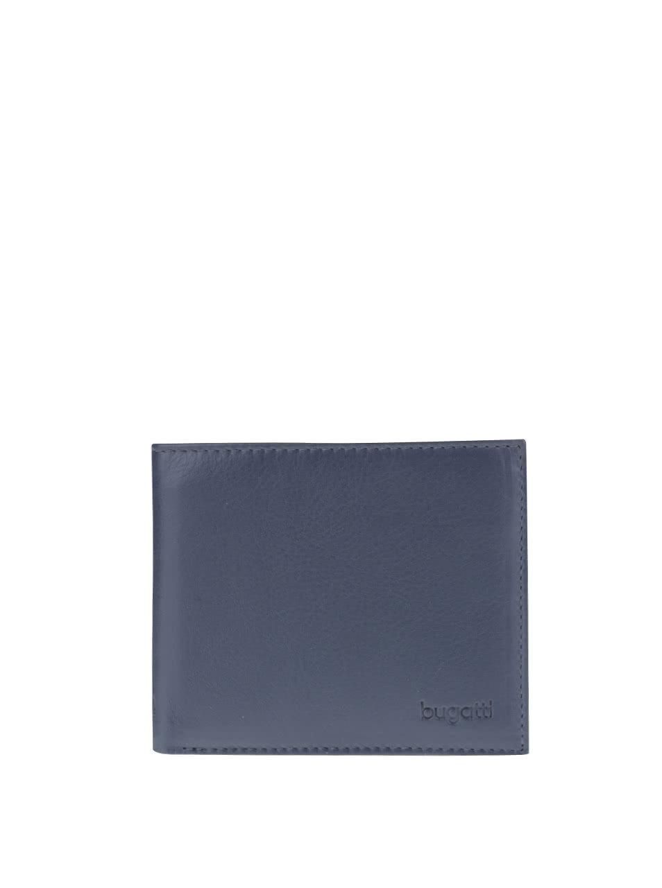 91347e5664 Tmavomodrá pánska kožená peňaženka bugatti Sempre ...