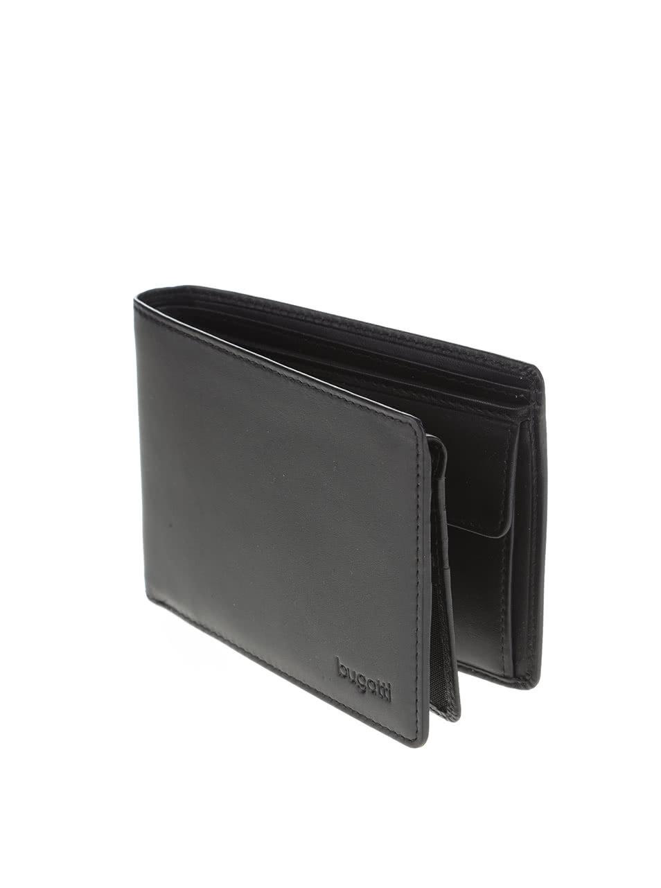 9a0fb4f75a5 Černá pánská kožená peněženka bugatti Primo ...