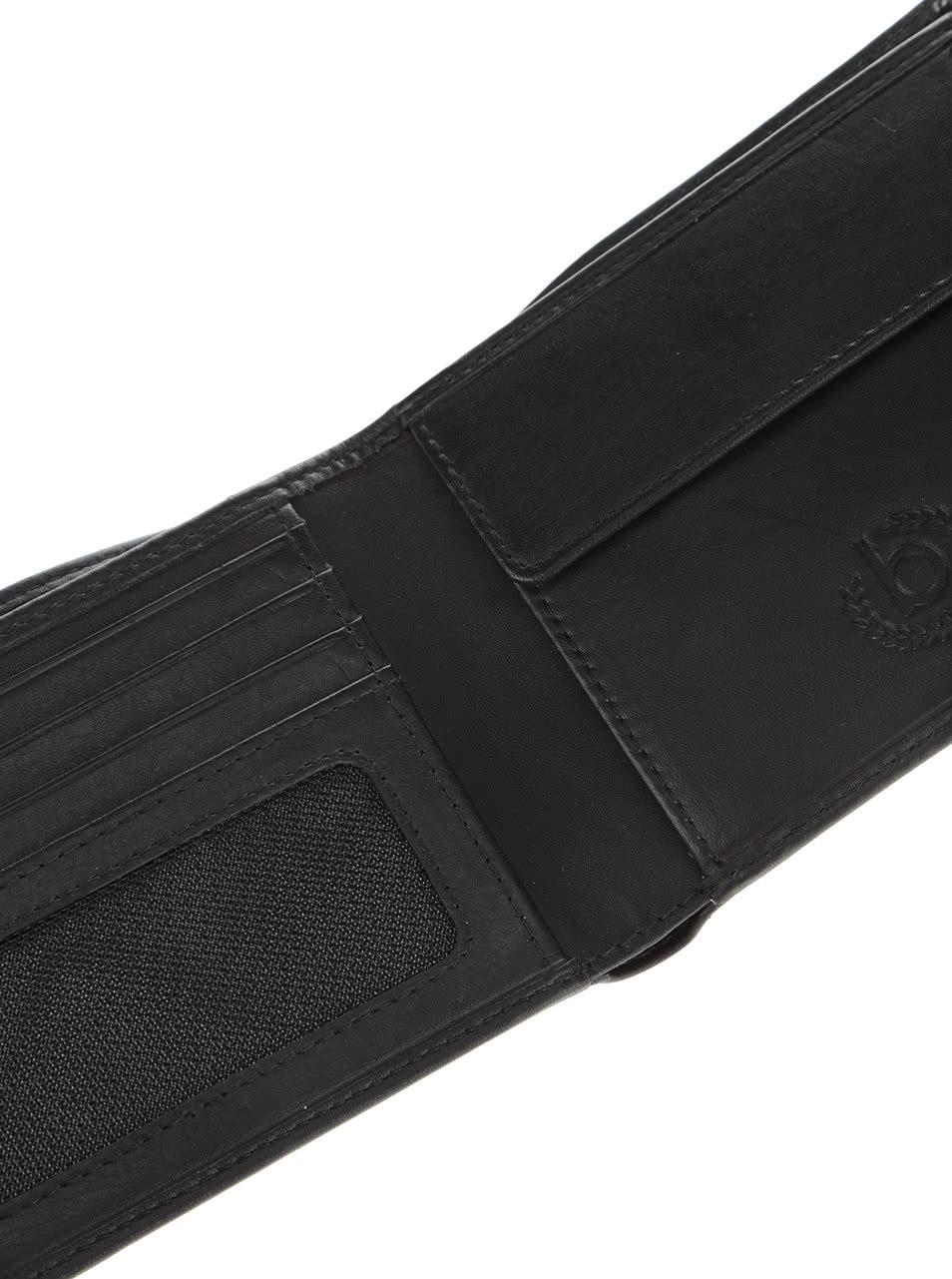 b9e3f40393f Černá pánská kožená menší peněženka bugatti Primo ...